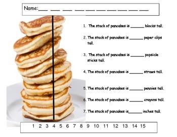 Pancake Measuring Activity