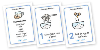 Pancake Recipe A4 sheets