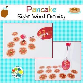 Pancake Sight Word Activity