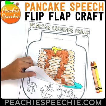Pancake Speech and Language Flip Flap Craft