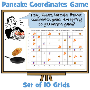 Pancake Themed Battle Ships - Coordinates Team and Partner Games