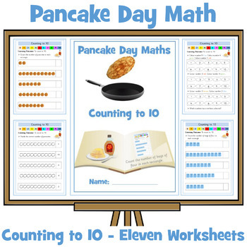 Pancake Themed Counting To Ten Worksheets