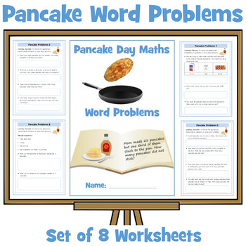 Pancake Themed Maths Word Problems