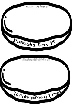 Pancake Tuesday / Shrove Tuesday / Pancake Day Interactive Notebook Templates
