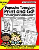 Pancake Tuesday Shrove Tuesday Print and Go:Second-Third Grade