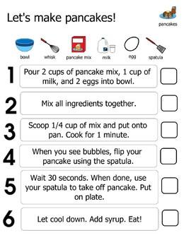 Pancake Visual Recipe Activity