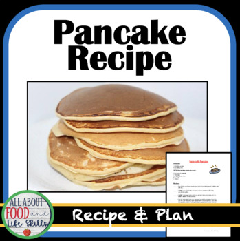 Homemade Pancake Recipe- Organized for a FACS class!