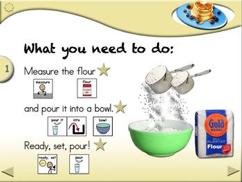 Pancakes - Animated Step-by-Step Recipe SymbolStix