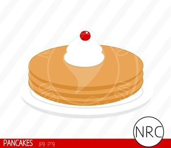 Pancakes Clip Art - Commercial Use Clipart