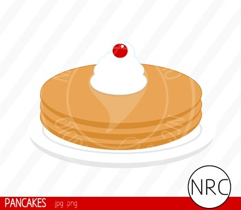 Pancakes clipart commercial use