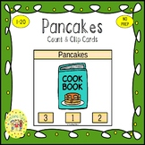 Pancakes Count and Clip Task Cards