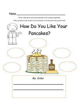 Pancakes!  Literacy and Math Activities { Freebie }