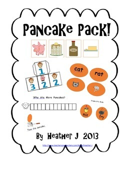 Pancakes!  Literacy and Math Activities