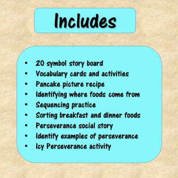 Pancakes Pancakes Literacy Unit for Special Education