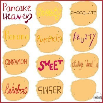 Pancakes Clip Art, Vector Clip Art for classroom, personal and commercial use