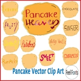 Pancakes Clip Art, Vector Clip Art for classroom, personal