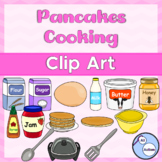 Pancakes cooking clipart
