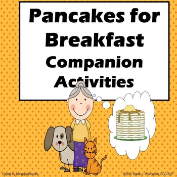 Pancakes for Breakfast Companion Activities for Speech and Language
