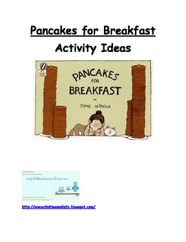 Pancakes for Breakfast by Tomie DePaola Activity Ideas