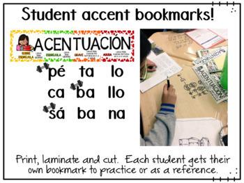 Pancarta de Acentuación y actividades  Accent banner and activities in Spanish