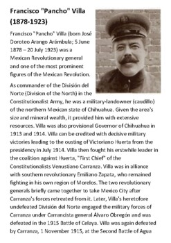 Pancho Villa Handout