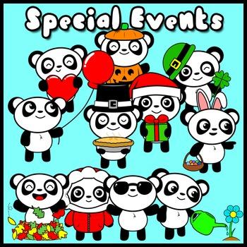 Panda Buddy! (Mascot Clip Art Set)