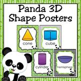 Panda 3D Shape Posters