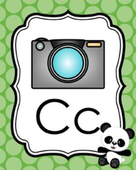 Panda Alphabet Posters A - Z
