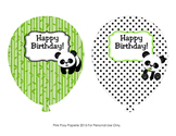 Panda Bear Birthday Balloons (4 different designs)