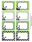 Panda Bear Classroom Decor Bin Tag Labels