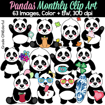 Panda Bear Clipart for All Seasons