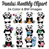 Panda Bear Clipart for All Year