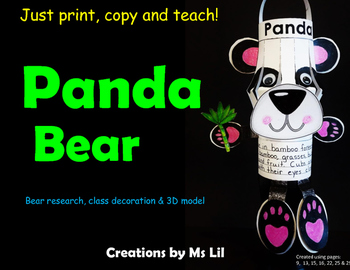 Panda Bear Craft  ::  Panda Bear Activity  ::  Panda Bear Research Project