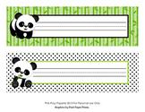 Panda Bear Desk Name Plates