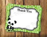 Panda Bear Flat Thank You Note Cards