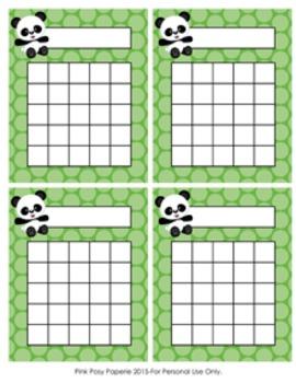 Panda Bear Incentive Reward Charts