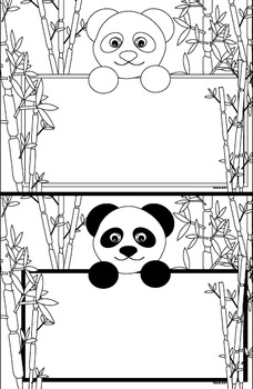 picture about Printable Panda Pictures titled Panda Endure Reputation Tag Printable