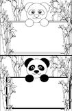 Panda Bear Name Tag Printable