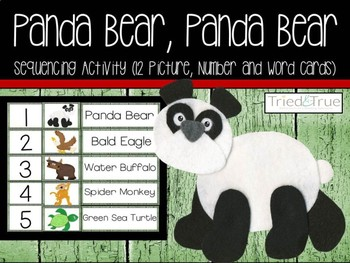 Panda Bear, Panda Bear Sequence Cards