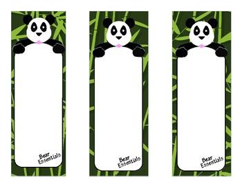 Panda Bear Tri-fold Notes