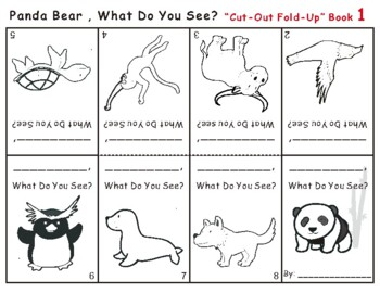 Panda Bear, What Do You See? Eric Carle Cut-Out Fold-Up Book