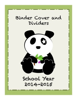 Panda Binder Cover and Divider