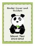 Panda Binder Cover and Divider