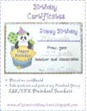 Panda Birthday Certificates