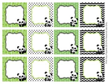 Panda Blank Calendar Number Tags Labels