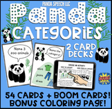 Panda Category Cards: Speech Therapy