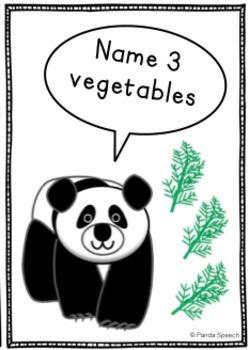 Panda Category Cards: Speech Therapy