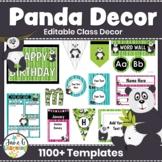 Panda Classroom Decor Pack   Editable Decor   Panda Theme   Back to School