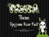 Panda Classroom Theme Decor Set