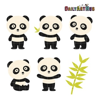 Panda Clip Art - Great for Art Class Projects!